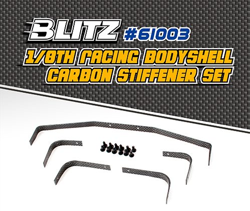 #61003 BLITZ 1/8th Racing Bodyshell Carbon Stiffener Set